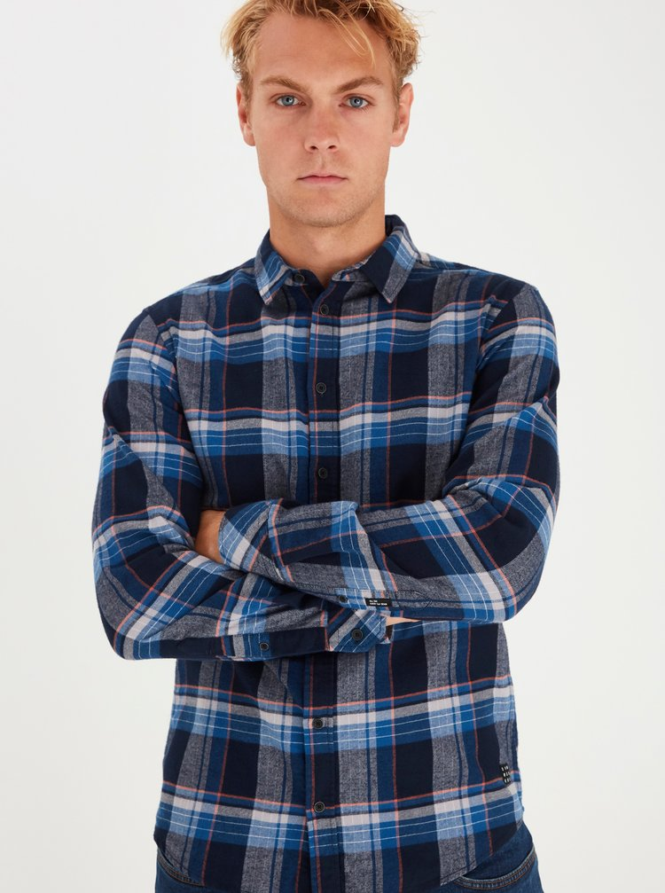 Modrá kostkovaná košile Blend