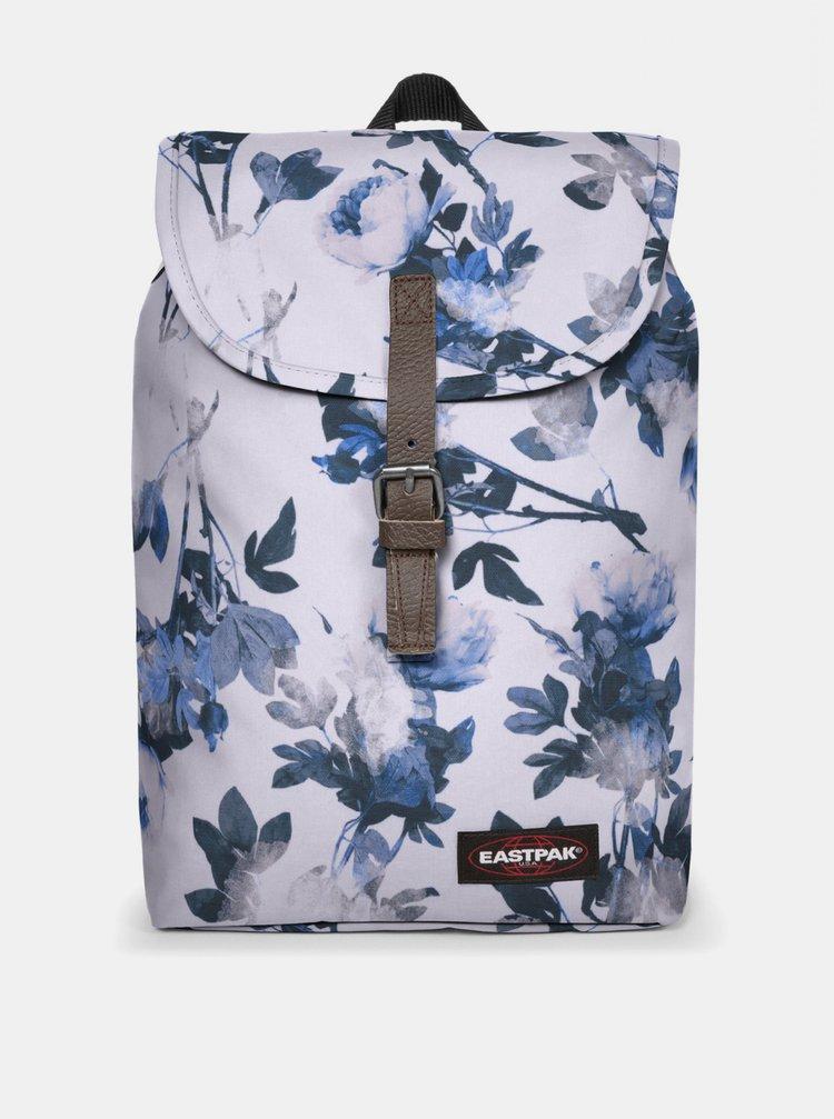Modro-bílý květovaný batoh Eastpak 10,5 l