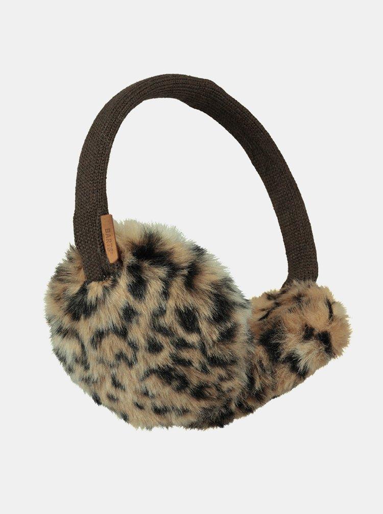Hnedé dámske klapky na uši s leopardím vzorom Barts