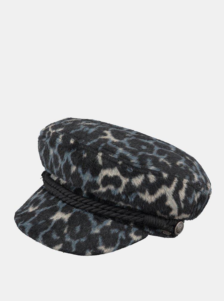 Tmavě modrá dámská čepice s příměsí vlny a leopardím vzorem Barts