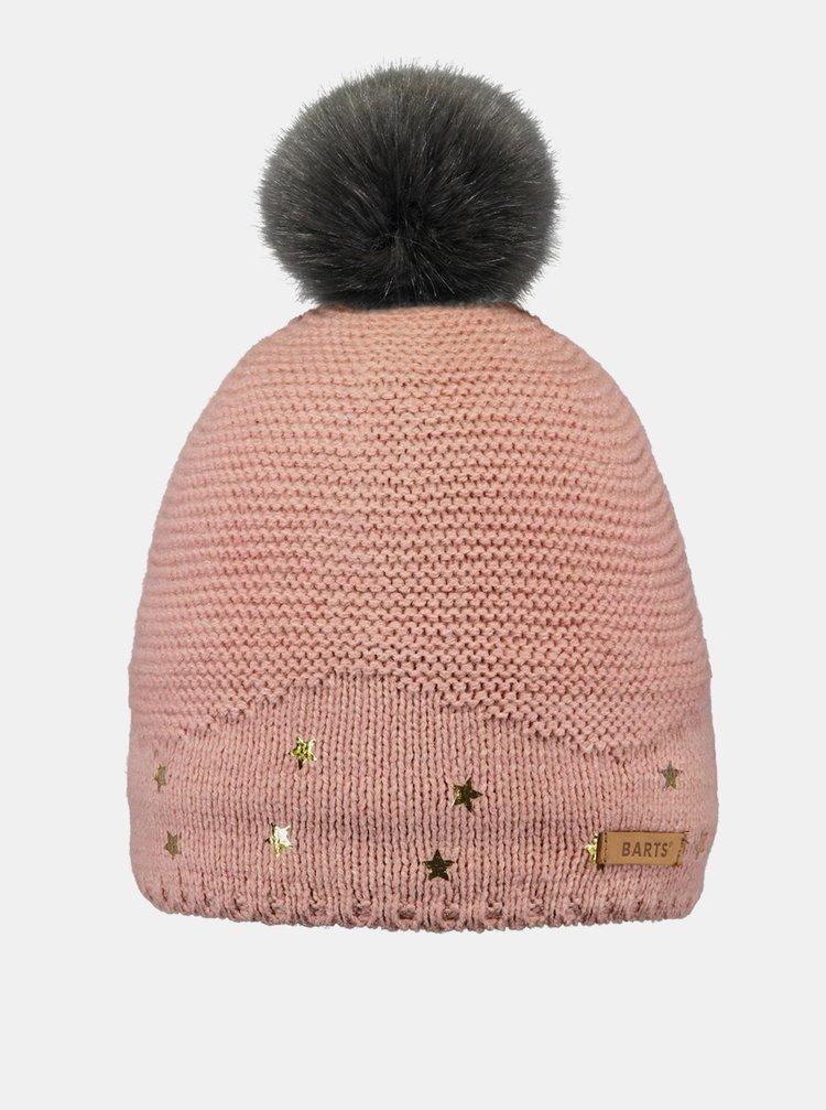 Růžová holčičí čepice Barts