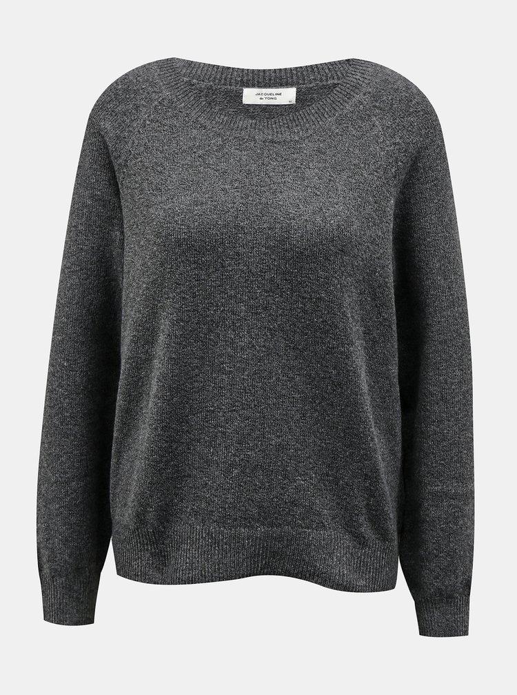 Tmavošedý sveter Jacqueline de Yong