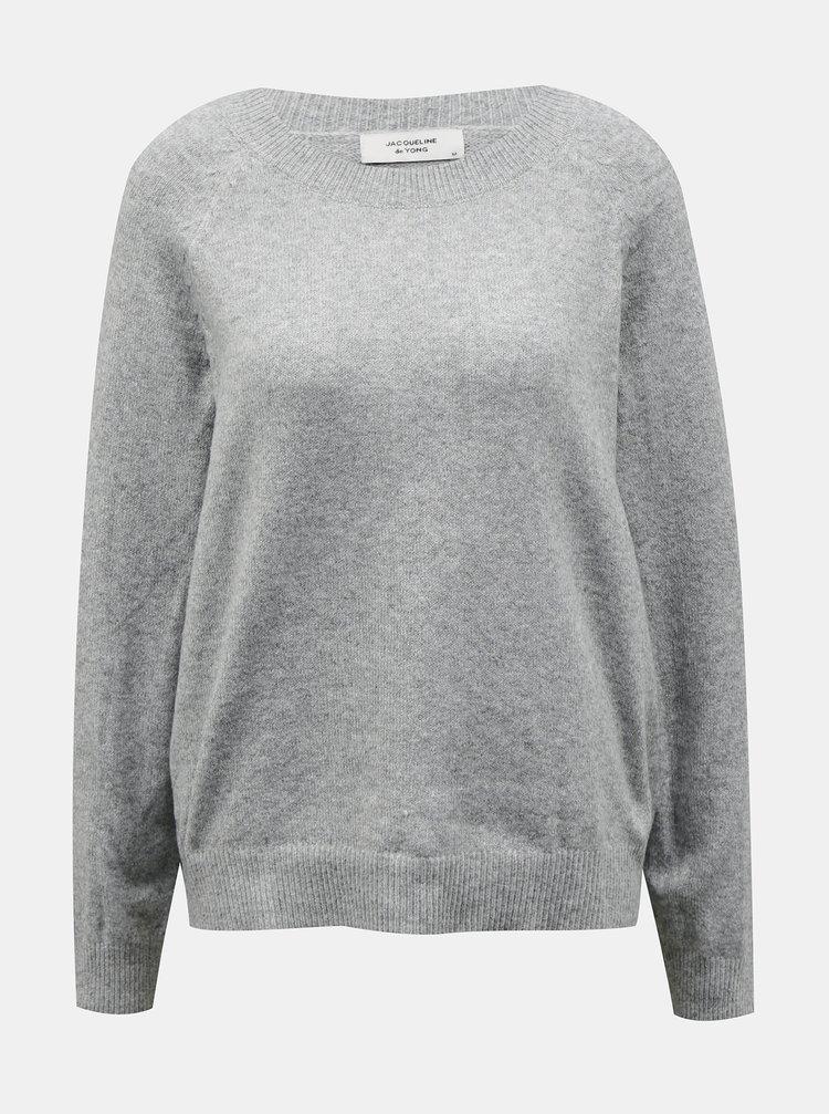 Světle šedý svetr Jacqueline de Yong