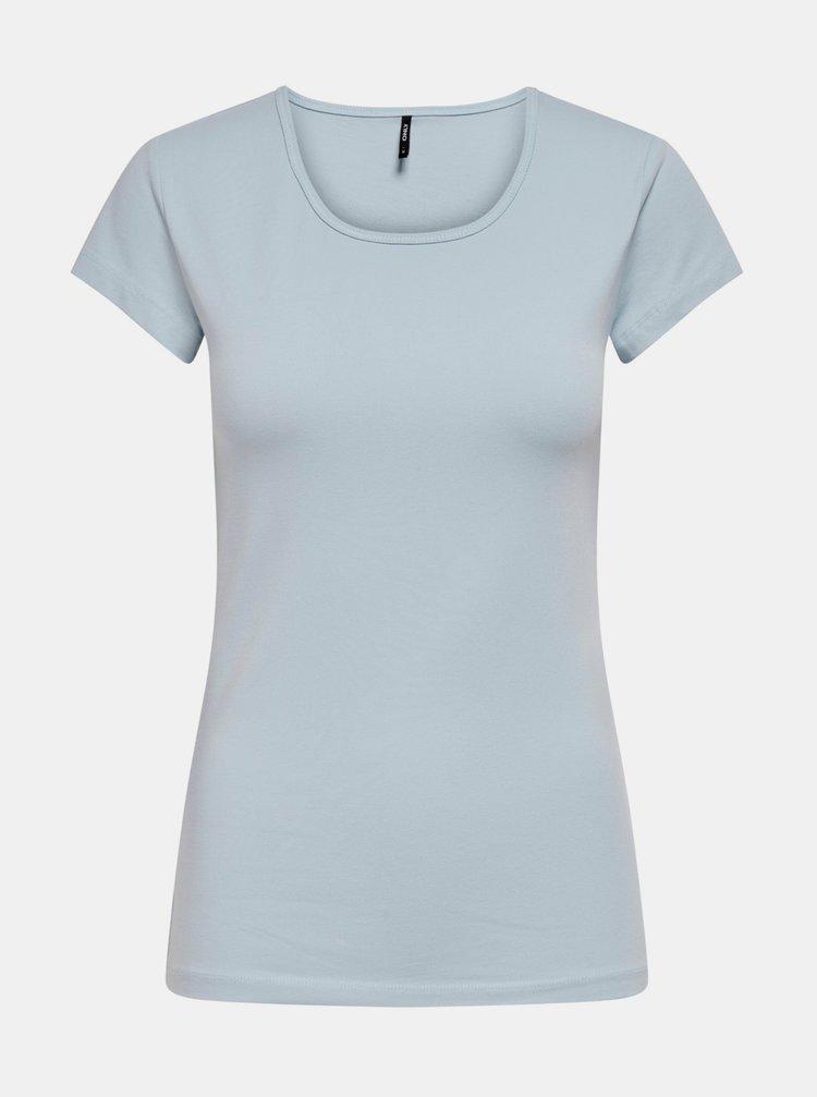Světle modré basic tričko ONLY