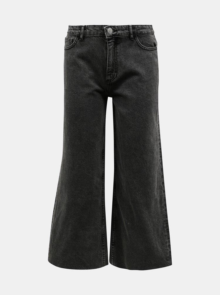 Šedé široké zkrácené džíny ONLY Sonny
