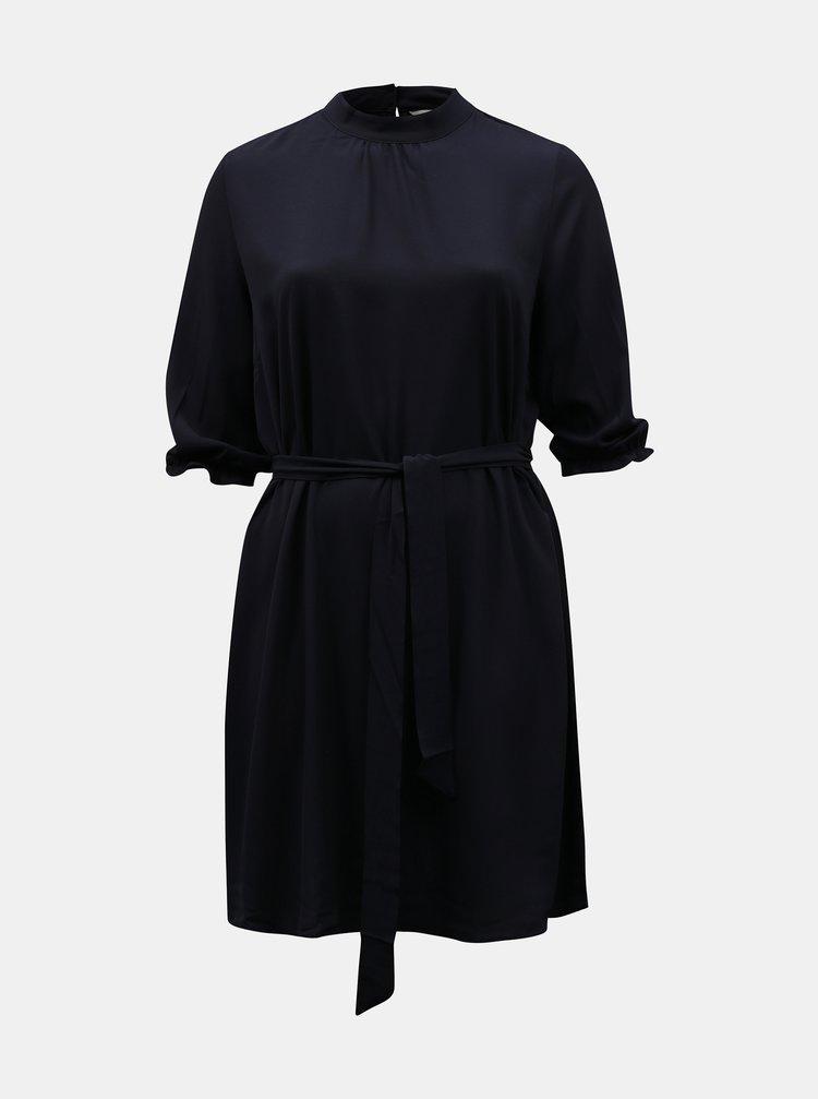 Tmavomodré šaty so zaväzovaním ONLY CARMAKOMA