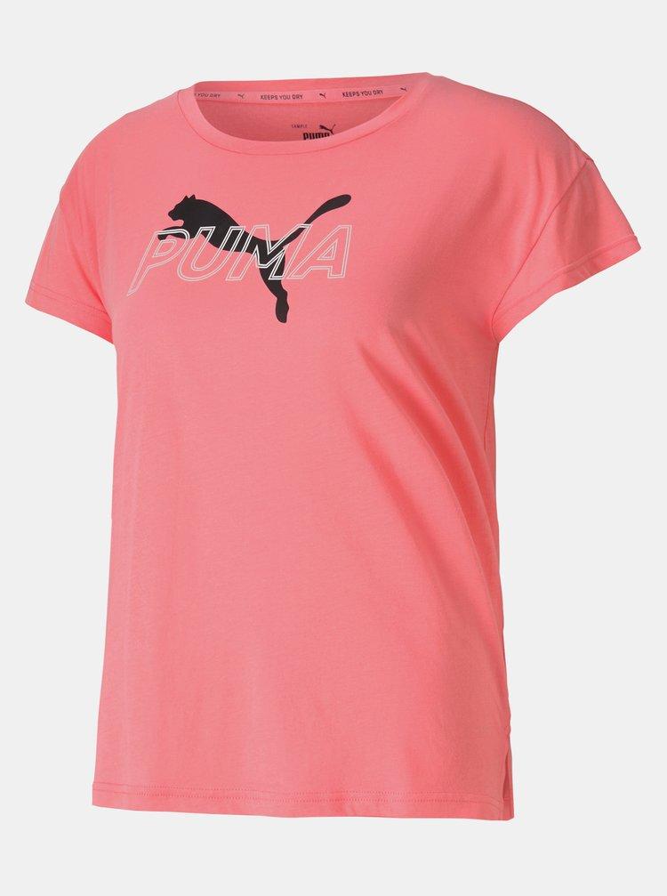 Ružové dámske tričko s potlačou Puma
