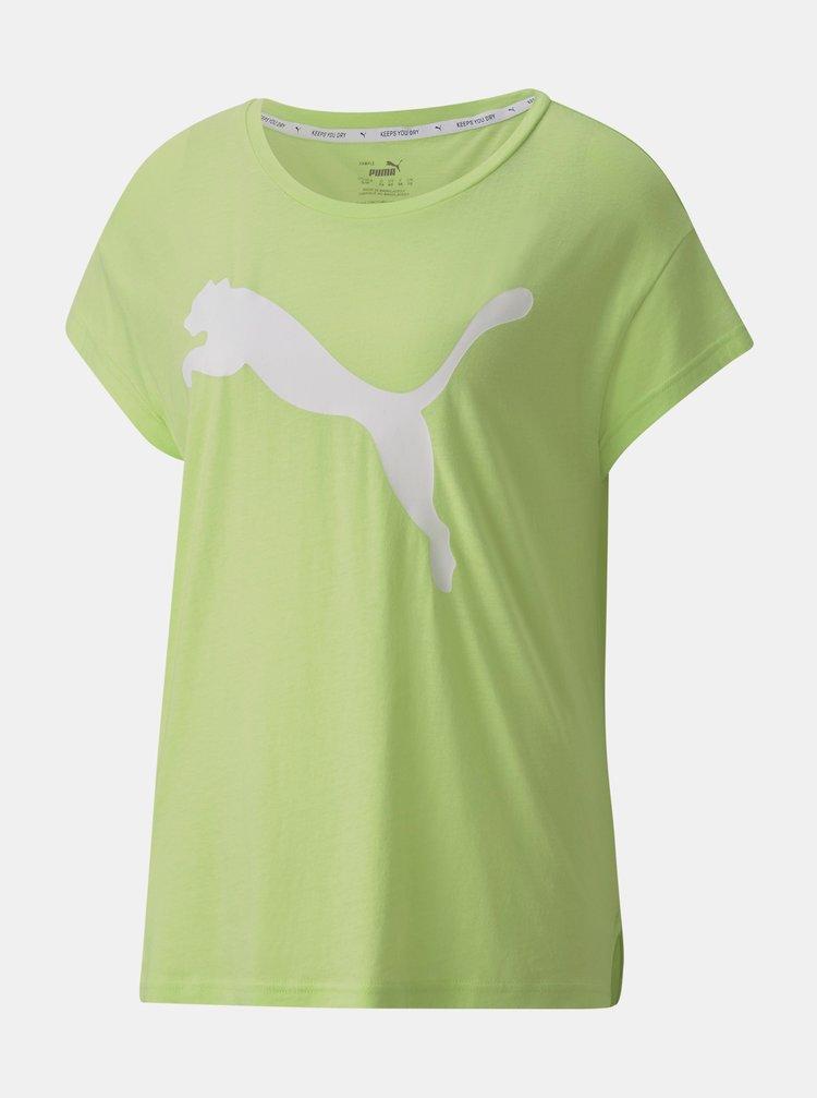 Světle zelené dámské tričko s potiskem Puma