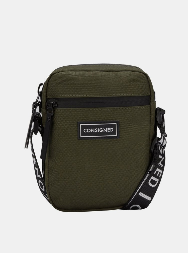 Khaki malá crossbody taška Consigned
