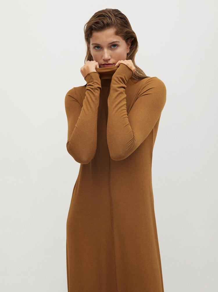 Šaty na denné nosenie pre ženy Mango - hnedá