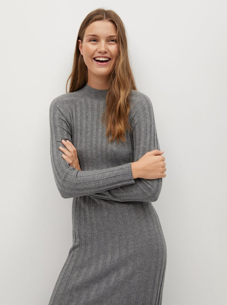 Šaty na denné nosenie pre ženy Mango - sivá