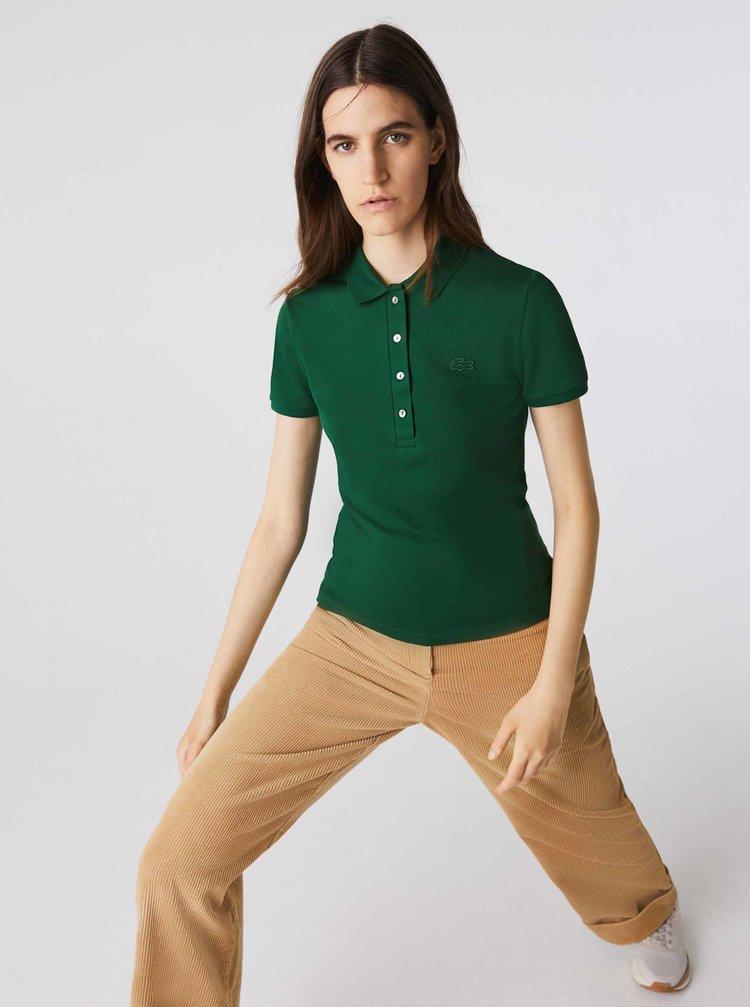 Zelená dámska polokošeľa Lacoste