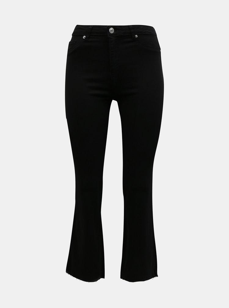 Černé zkrácené flared fit džíny TALLY WEiJL