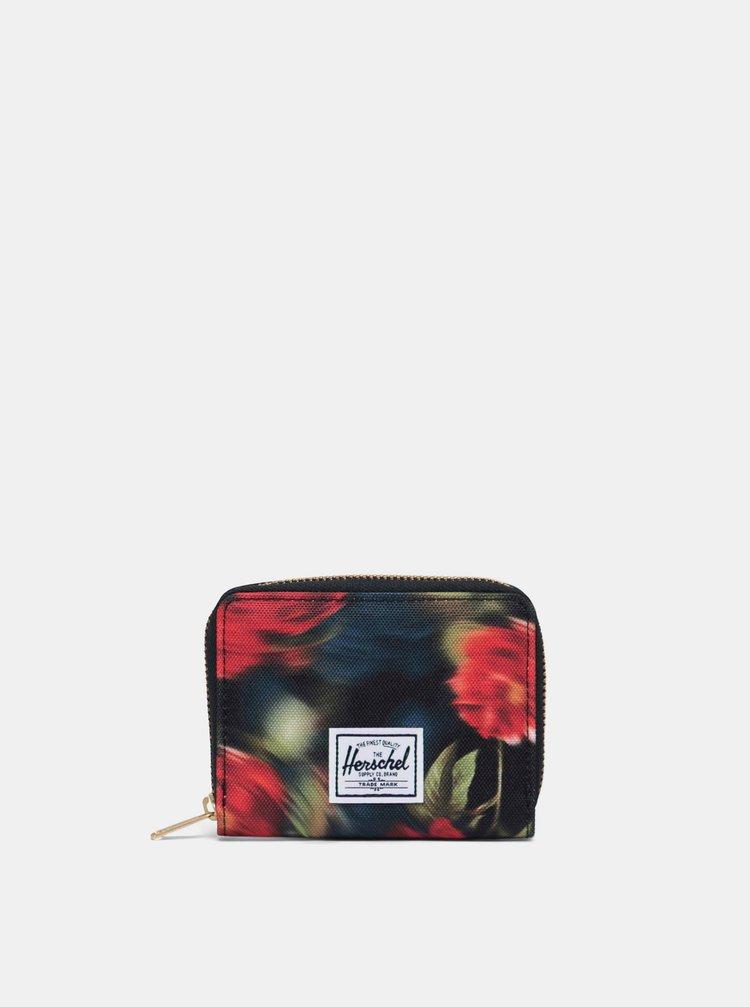 Černá vzorovaná peněženka Herschel Supply Tyler