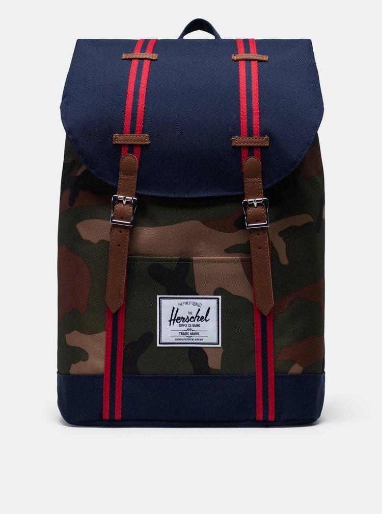Modrý vzorovaný batoh Herschel Supply