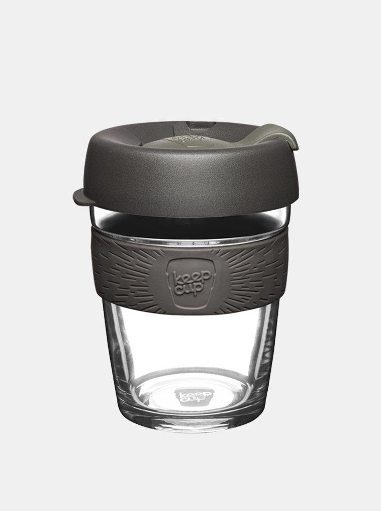 Šedý skleněný cestovní hrnek KeepCup Brew Nitro medium 340 ml