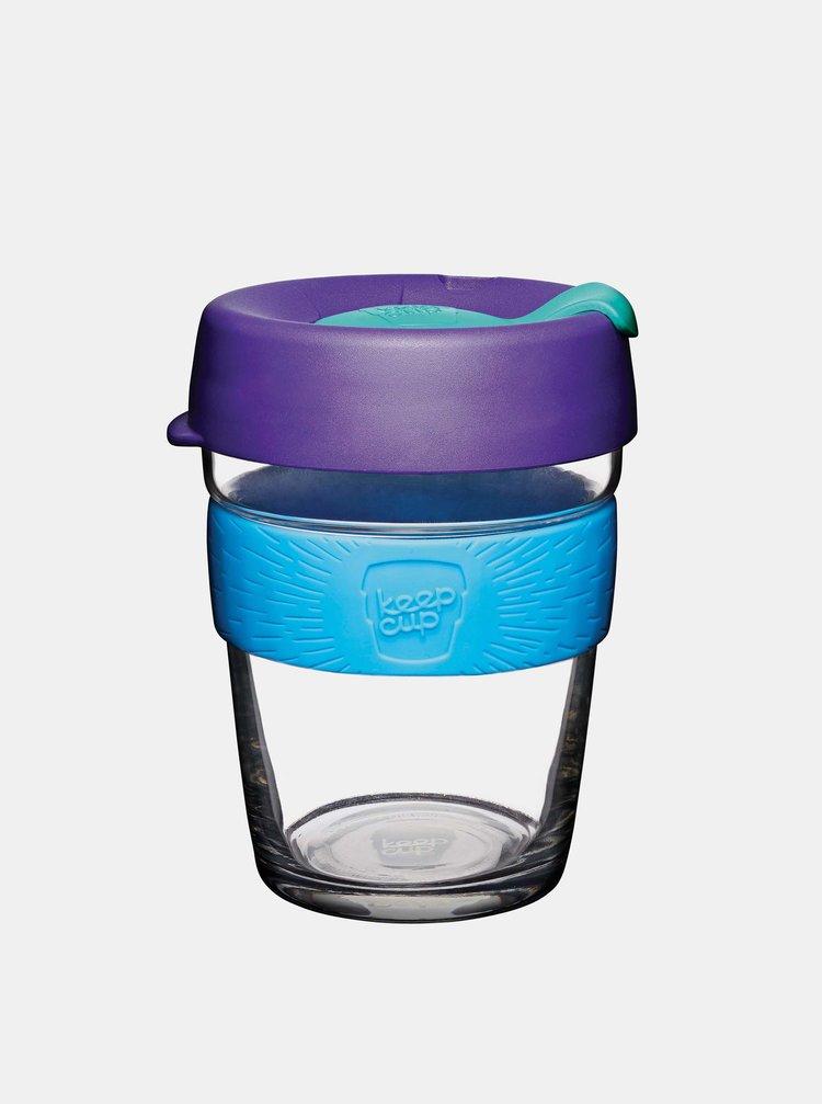 Fialový sklenený cestovný hrnček KeepCup Tidal medium 340 ml