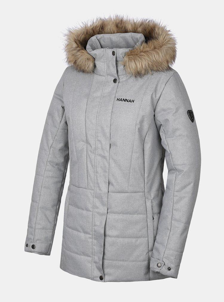 Šedá dámská zimní bunda Hannah