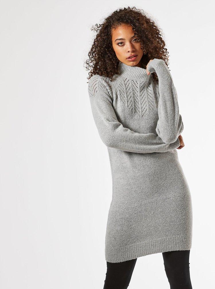 Šedé svetrové šaty Dorothy Perkins Tall