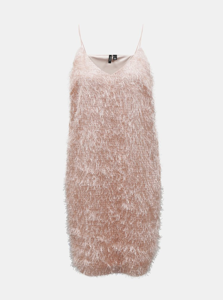 Svetloružové šaty VERO MODA