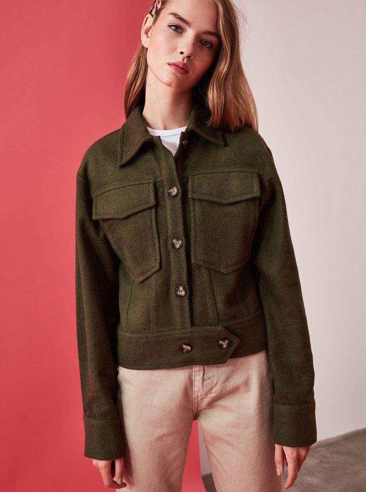 Khaki dámská bunda Trendyol