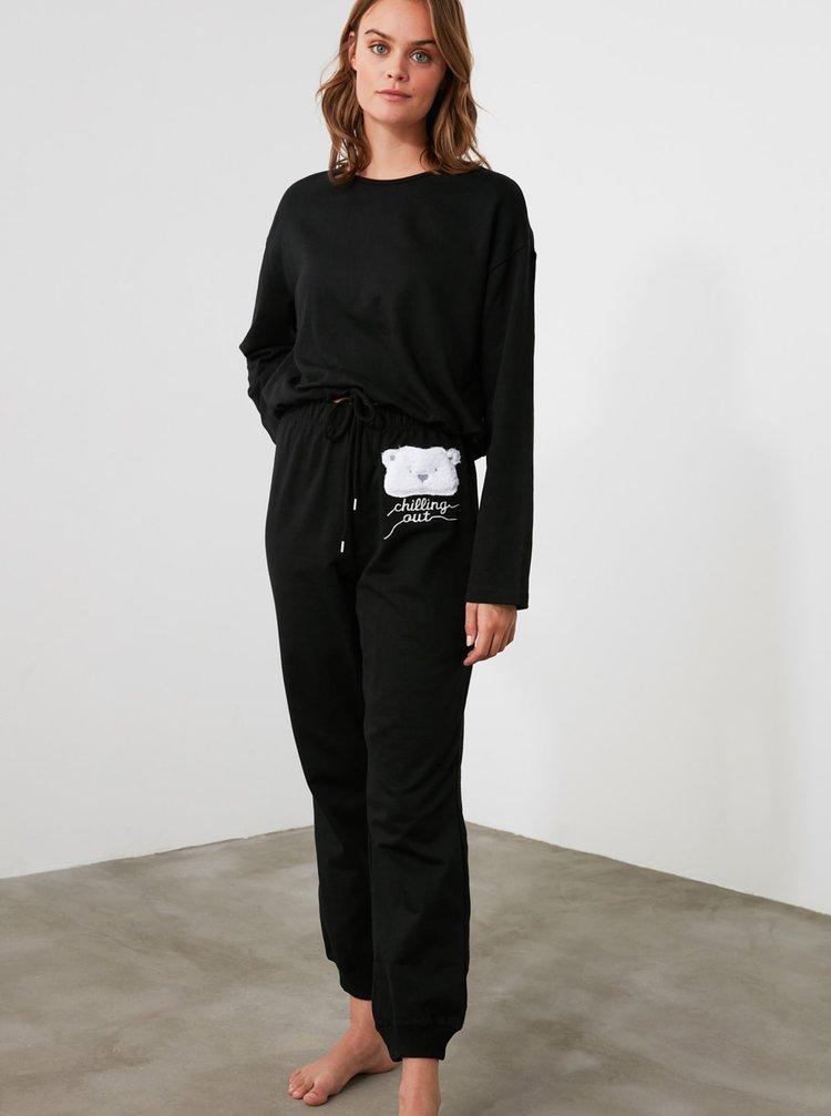Černé pyžamo Trendyol