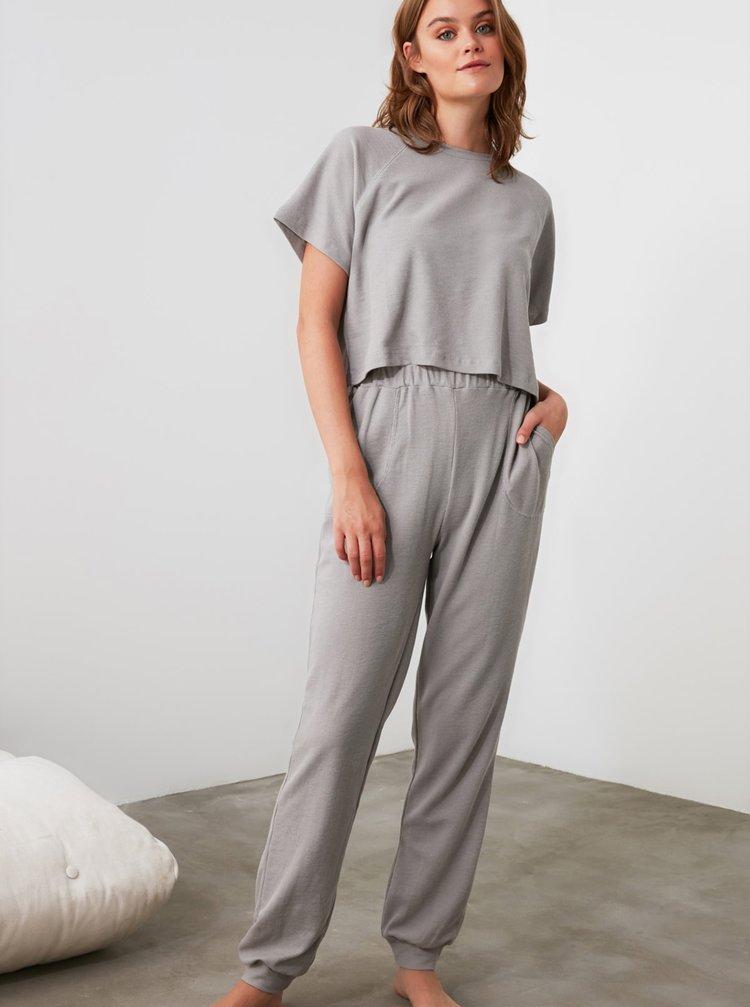 Šedé pyžamo Trendyol