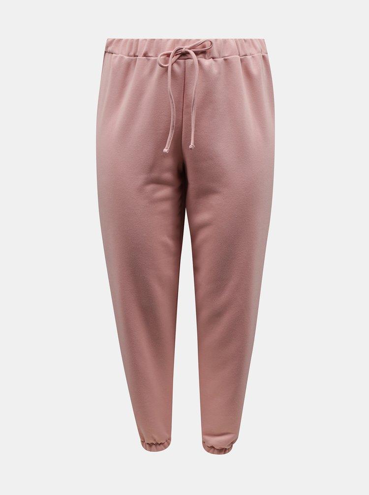 Růžové tepláky Dorothy Perkins Curve