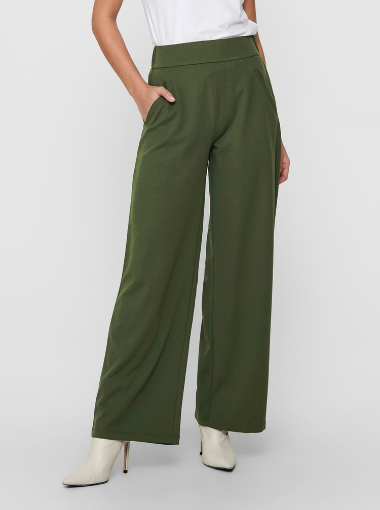 Zelené široké kalhoty Jacqueline de Yong
