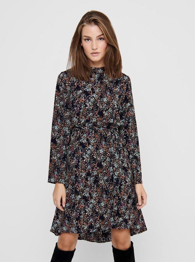 Tmavomodré kvetované šaty Jacqueline de Yong