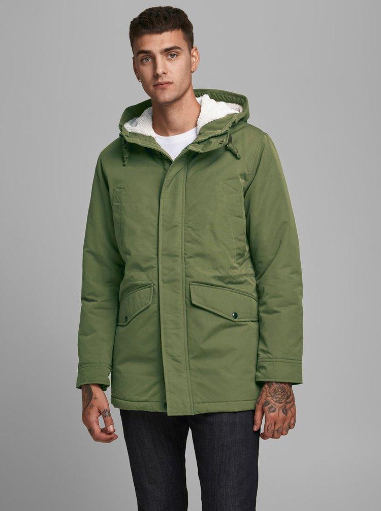 Zelená zimná bunda Jack & Jones