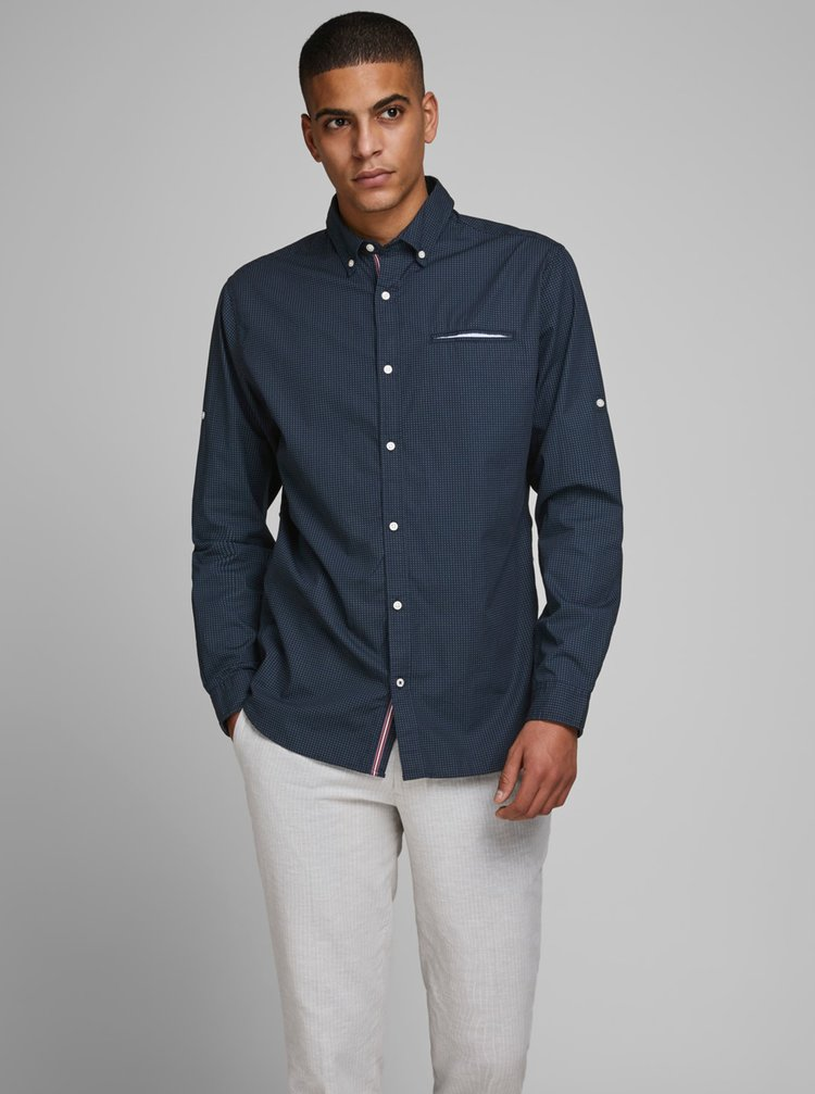 Tmavě modrá košile Jack & Jones