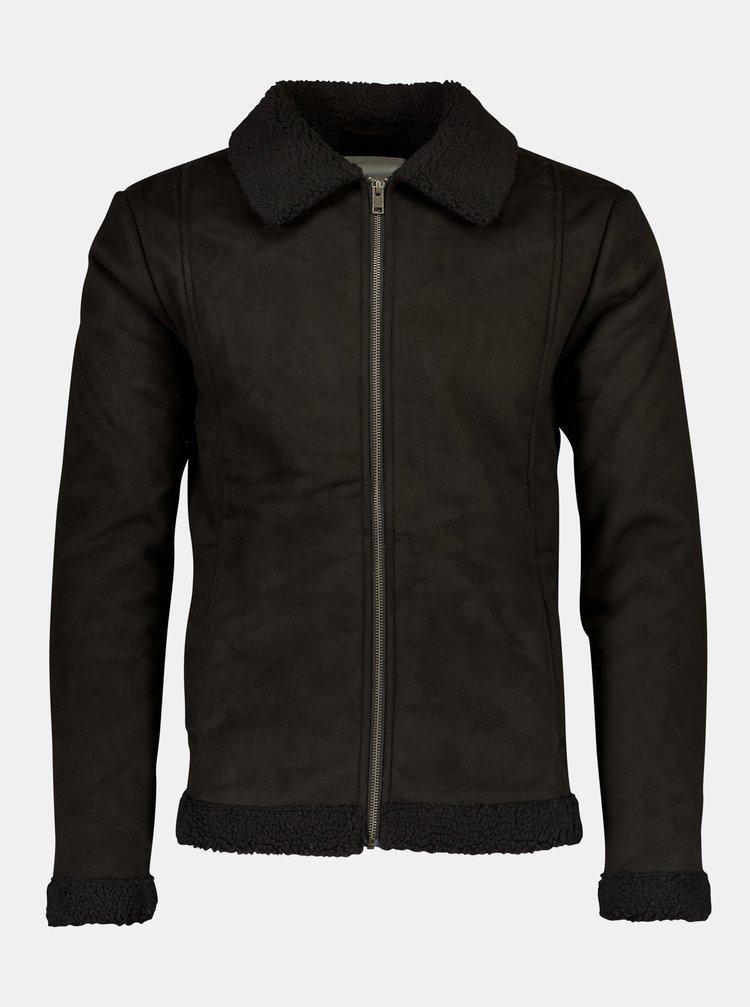 Černá bunda v semišové úpravě Lindbergh
