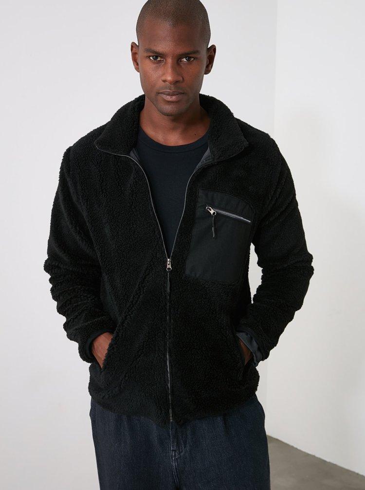 Černá pánská mikina Trendyol