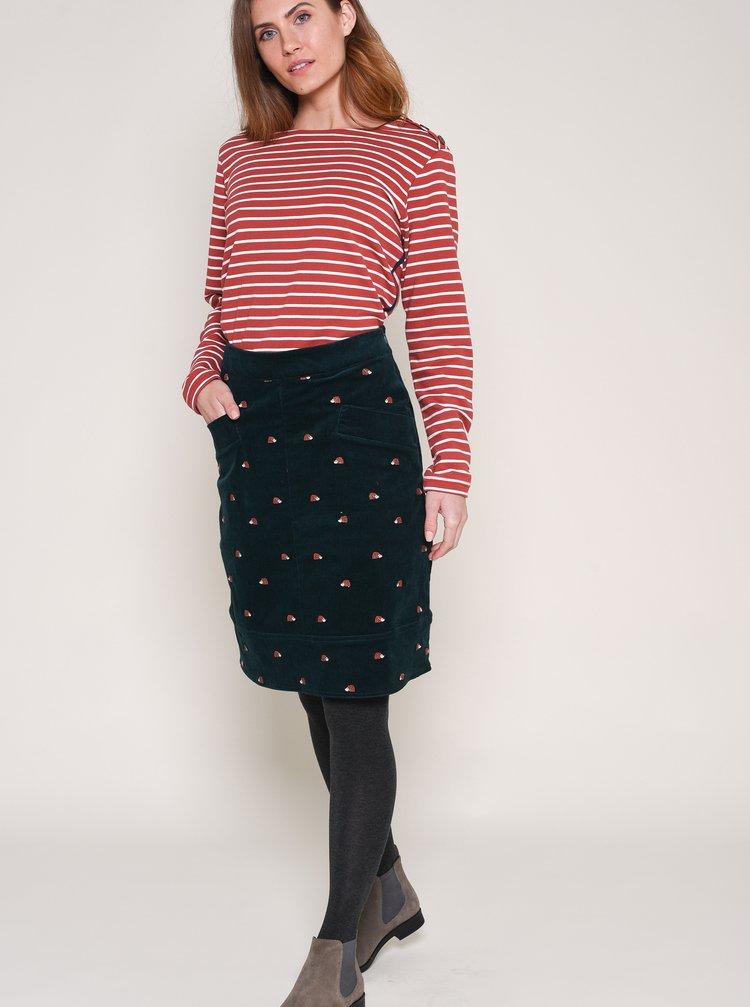 Tmavozelená vzorovaná sukňa Brakeburn