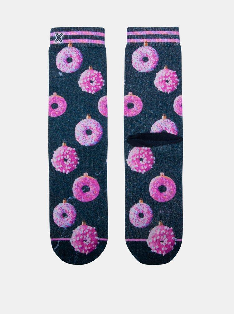 Modro-růžové dámské ponožky XPOOOS