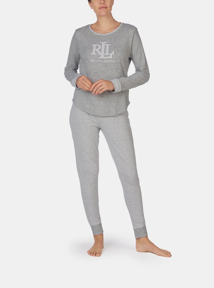 Šedé dámske pyžamo Lauren Ralph Lauren