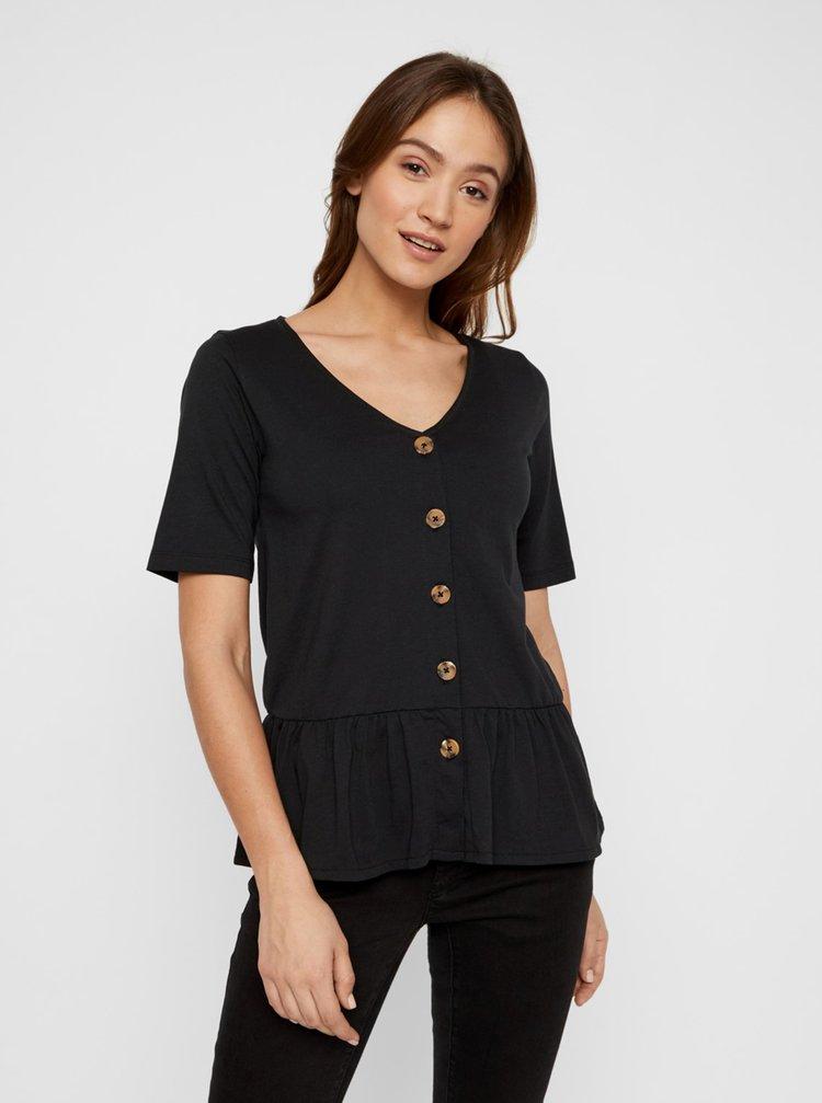 Černé kojicí tričko Mama.licious