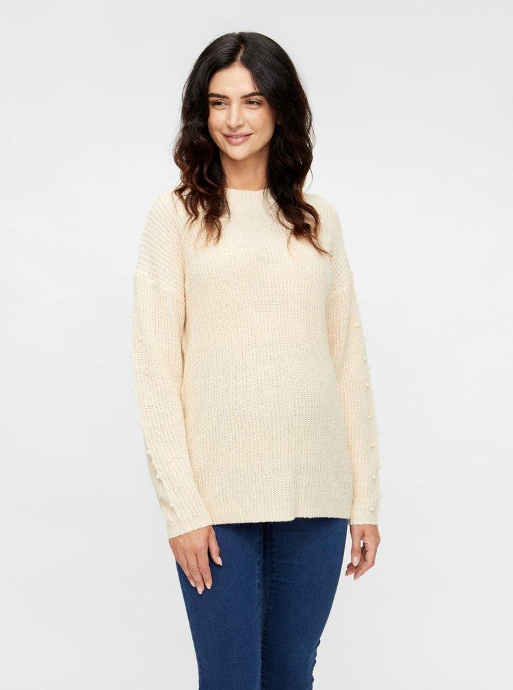 Krémový tehotenský sveter Mama.licious