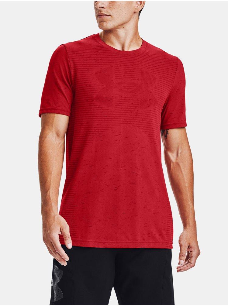 Tričko Under Armour Seamless Logo SS - červená