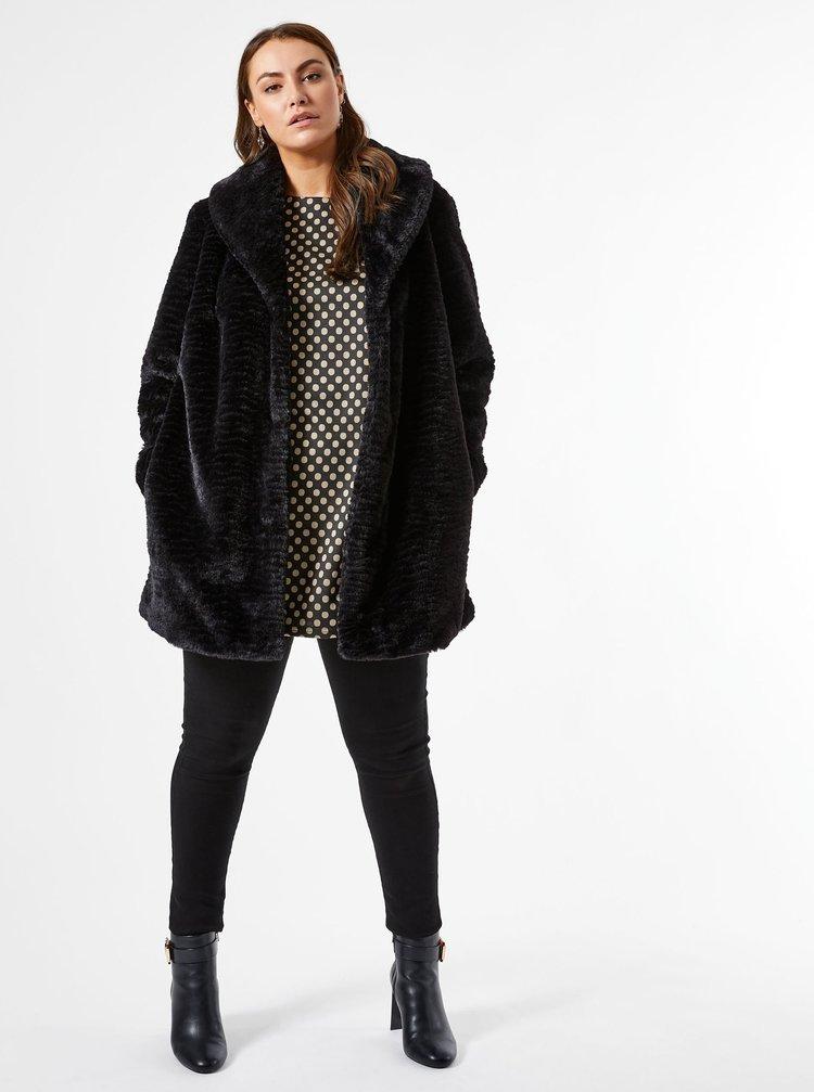 Čierny zimný kabát Dorothy Perkins Curve