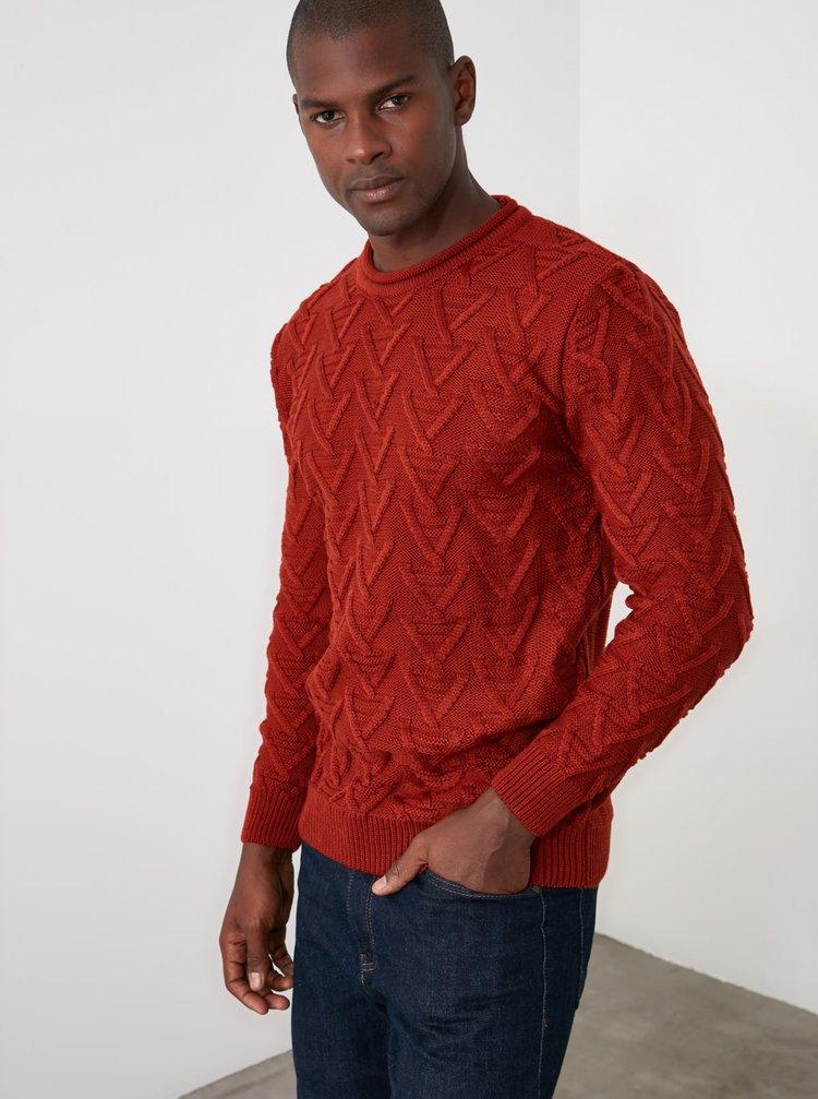 Červený pánsky sveter Trendyol