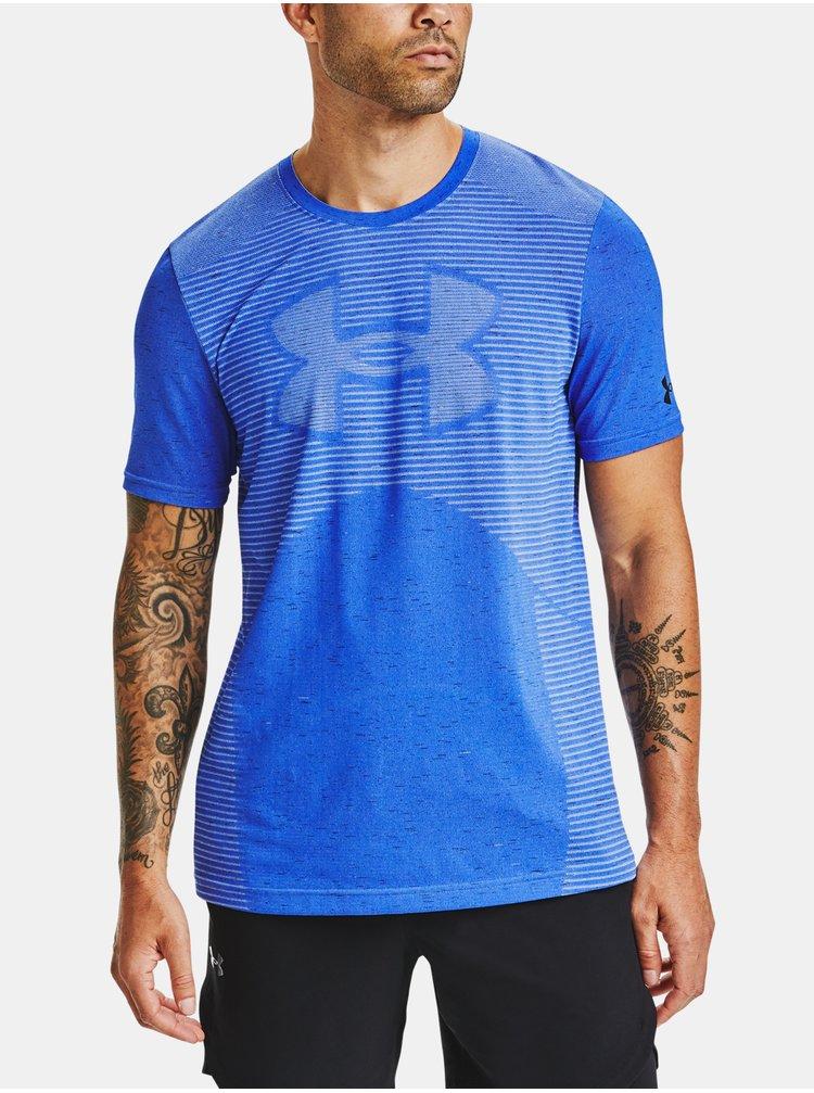 Tričko Under Armour Seamless Logo SS - modrá