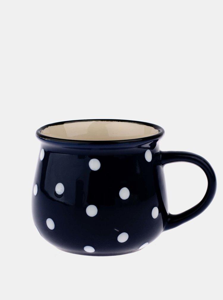 Modrý puntíkovaný keramický hrnek Dakls 230 ml