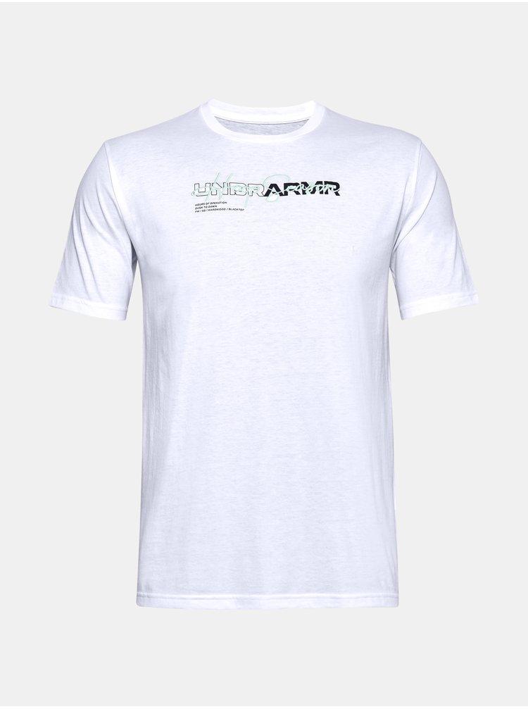 Tričko Under Armour UA UNDR ARMR WORDMARK TEE - bílá