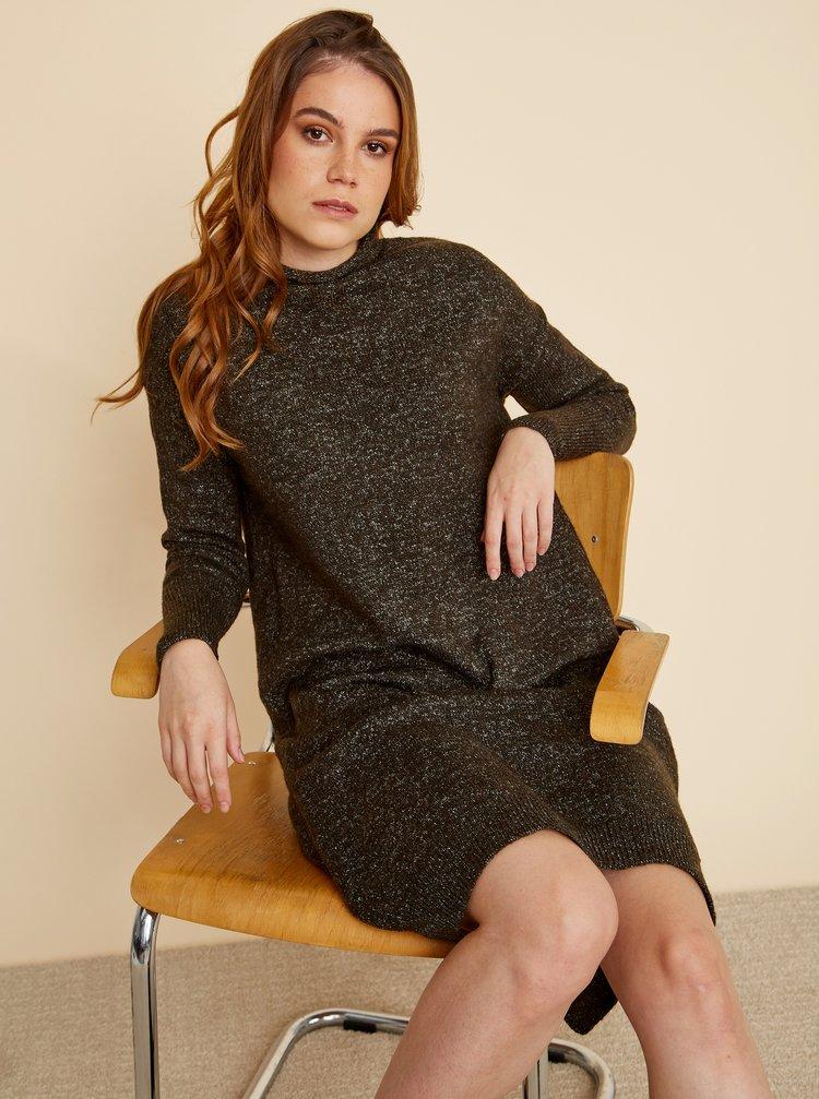 Khaki svetrové šaty ZOOT Kitty