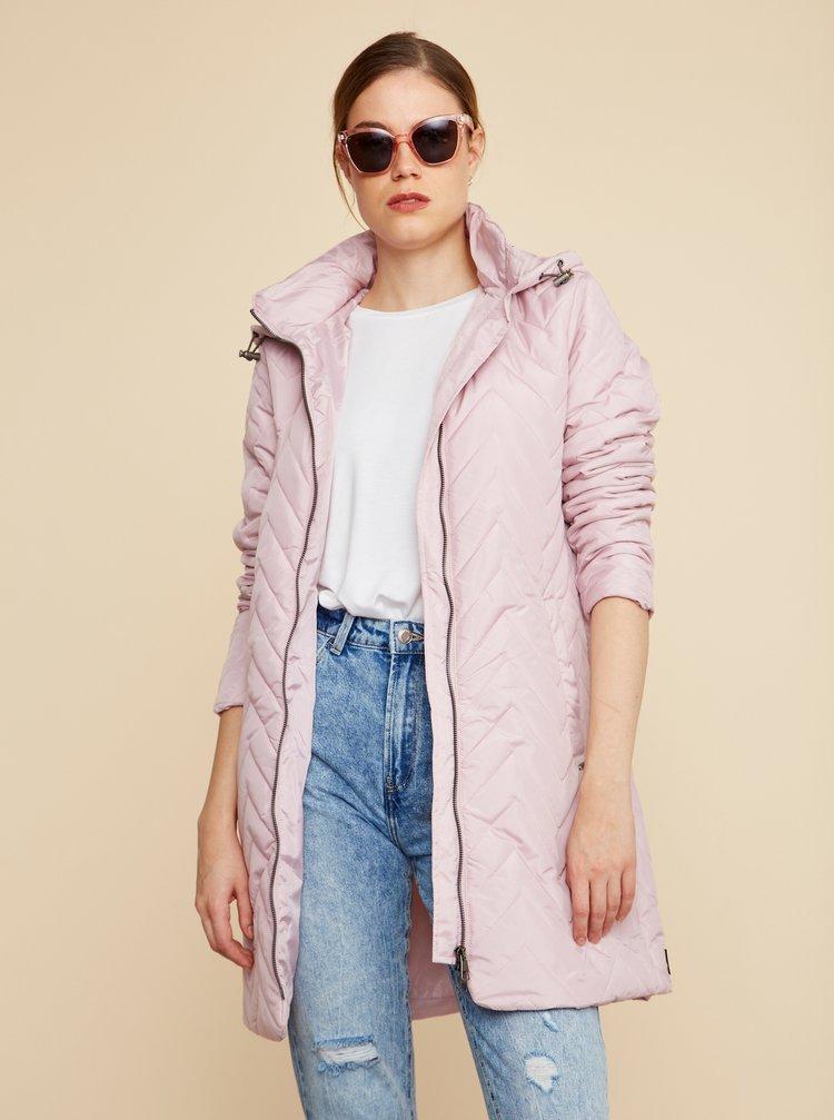 Růžový dámský prošívaný kabát ZOOT Baseline Molly