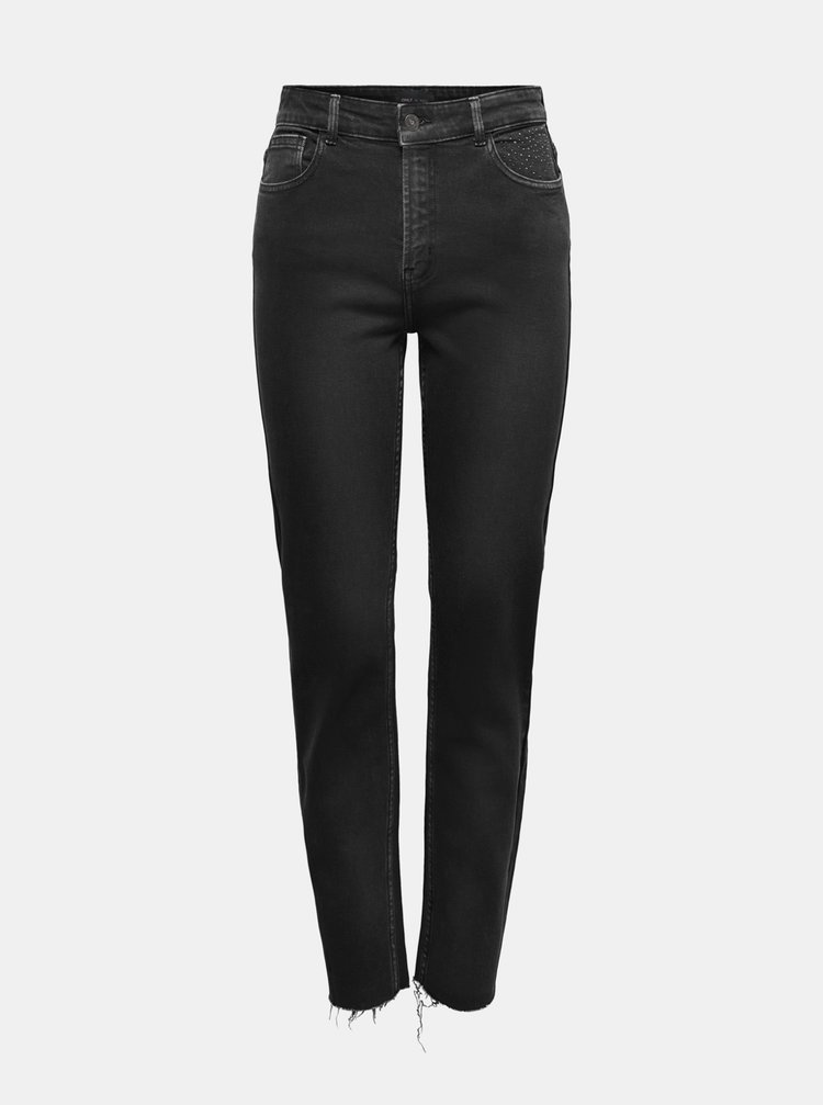 Černé straight fit džíny ONLY