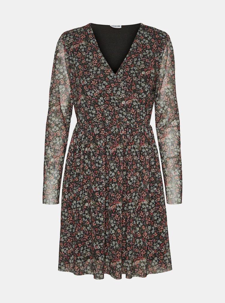 Černé květované šaty Noisy May Lesly