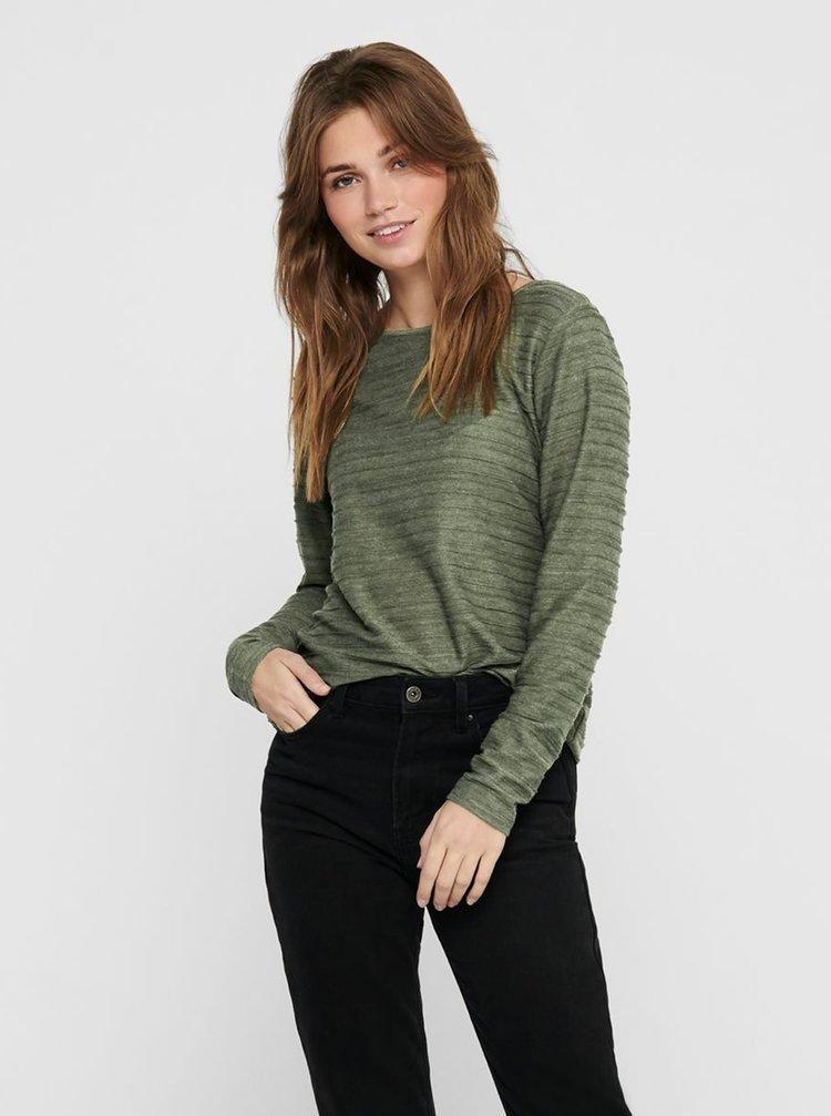Zelené tričko s průstřihem na zádech ONLY